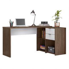 Mesa-de-Home-Office-Notavel-com-Gaveta-Nogal-Trend-Branco